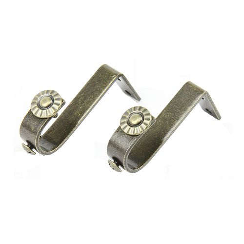rod desyne 2 pk ceiling curtain rod brackets