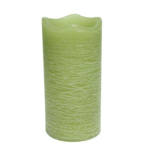 Inglow Citrus Sage 3 x 6 Flameless LED Rustic Pillar Candle