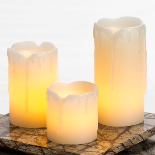 Inglow 3-pc. Flameless LED Pillar Candle Set