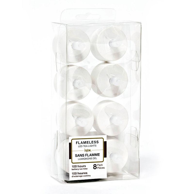 Inglow 8-pk. Flameless LED Tealight Candles