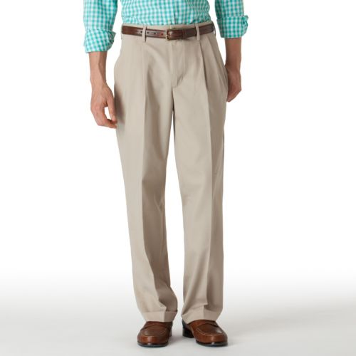 Big & Tall Chaps Easy-Care Stain-Resistant Double-Pleated Pants