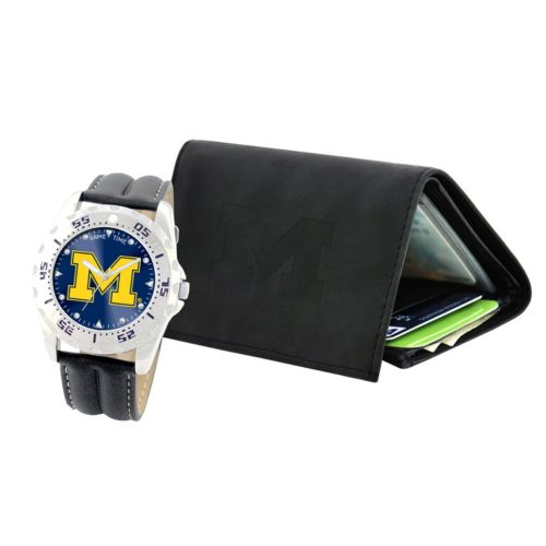 Michigan Wolverines Watch and Wallet Gift Set