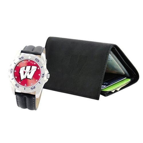 Wisconsin Badgers Watch and Wallet Gift Set