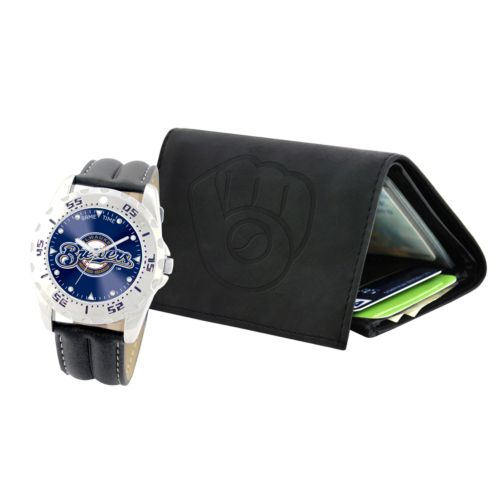 Milwaukee Brewers Watch and Wallet Gift Set