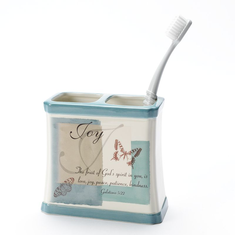 blessings toothbrush holder blue