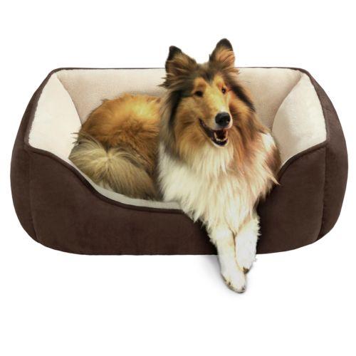 Soft Touch Reversible Rectangular Cuddler Pet Bed - 34'' x 24''