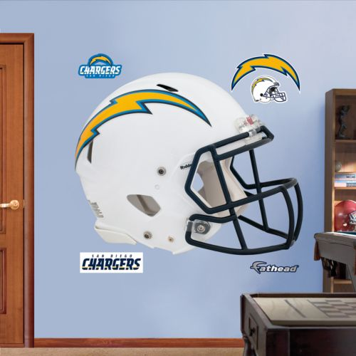 Fathead San Diego Chargers Revolution Helmet Wall Decals