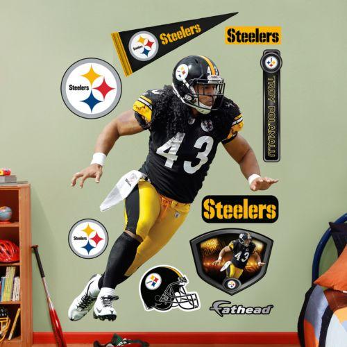 Fathead Pittsburgh Steelers Troy Polamalu Wall Decals