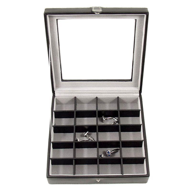 Glass-Lid Cuff Link Case