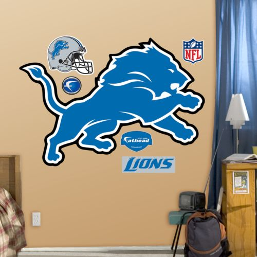 Fathead Detroit Lions Logo Wall Decals