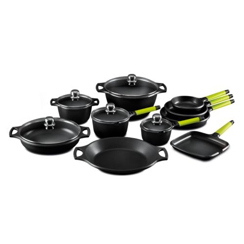 Fundix by Castey Cast-Aluminum 15-pc. Cookware Set