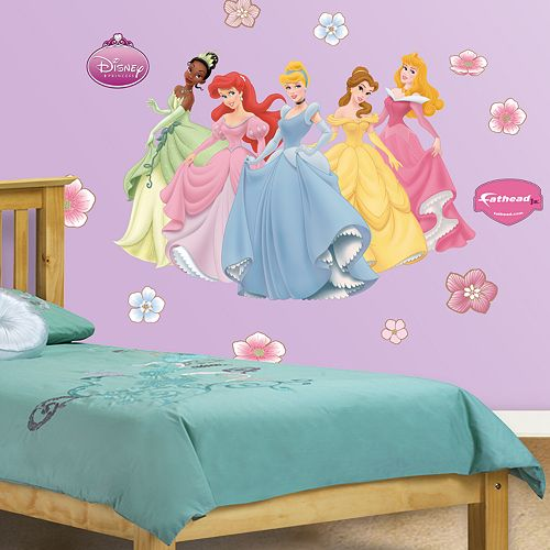 Disney princess wall decals by fathead for Disney princess wall mural stickers