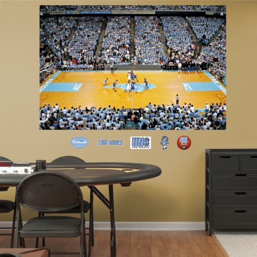 Fathead North Carolina Tar Heels Basketball Arena Mural Wall Decals