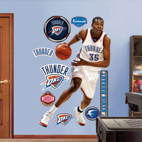 Fathead Oklahoma City Thunder Kevin Durant 9-Piece Wall Decals