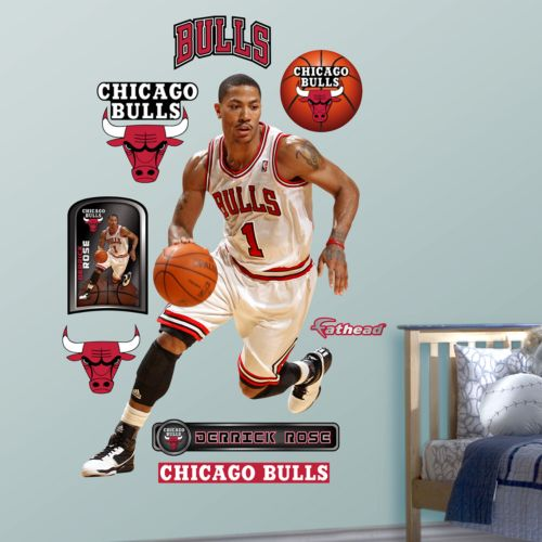 Fathead Chicago Bulls Derrick Rose Wall Decals