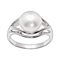 PearLustre by Imperial Sterling Silver Freshwater Cultured Pearl Ring