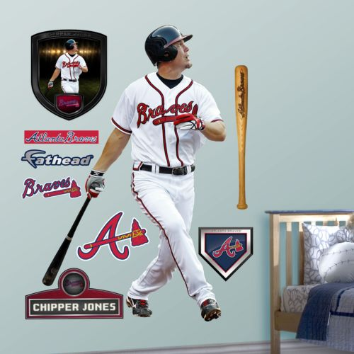 Fathead Atlanta Braves Chipper Jones Wall Decals