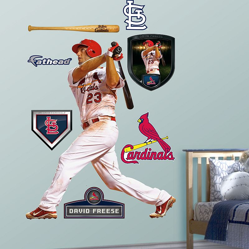 fathead st louis cardinals david freese wall decals. Black Bedroom Furniture Sets. Home Design Ideas
