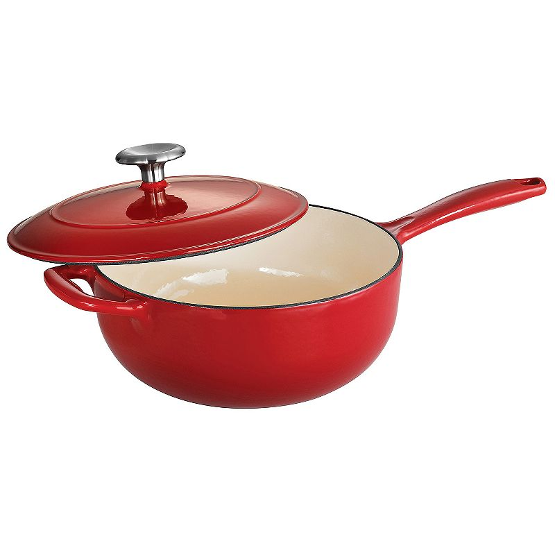 Tramontina Enameled Cast-Iron 3-qt. Covered Saucepan