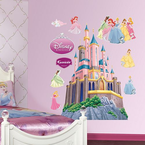 Disney princess castle wall decals by fathead for Disney princess wall mural stickers