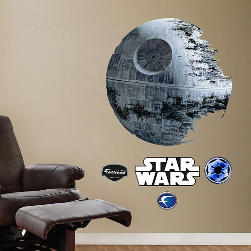 Star wars death star wall decals by fathead for Death star wall mural