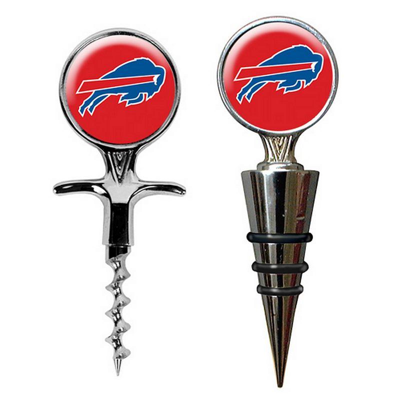 Buffalo Bills Cork Screw and Wine Bottle Topper Set