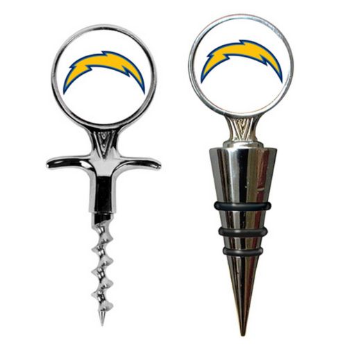 San Diego Chargers Cork Screw and Wine Bottle Topper Set