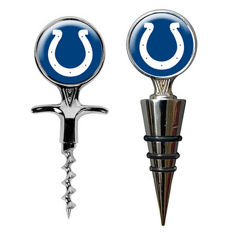 Indianapolis Colts Cork Screw and Wine Bottle Topper Set