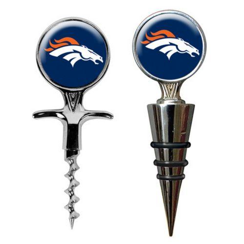 Denver Broncos Cork Screw and Wine Bottle Topper Set