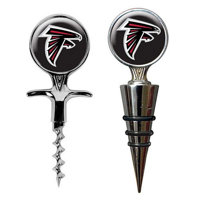 Atlanta Falcons Cork Screw and Wine Bottle Topper Set