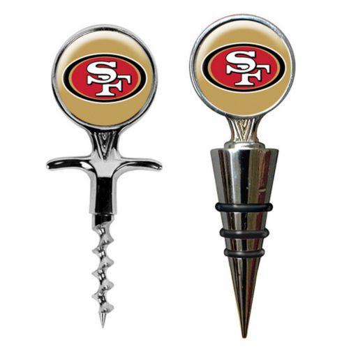 San Francisco 49ers Cork Screw and Wine Bottle Topper Set