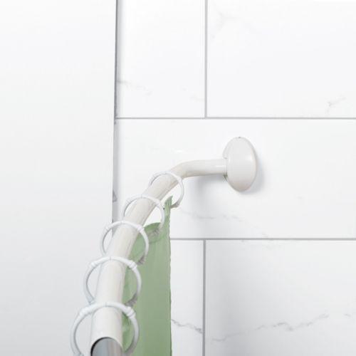 Zenna Home Curved NeverRust Shower Curtain Rod