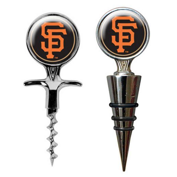 San Francisco Giants Cork Screw and Wine Bottle Topper Set
