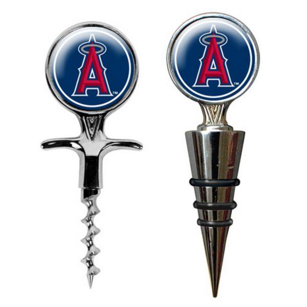 Los Angeles Angels Cork Screw and Wine Bottle Topper Set
