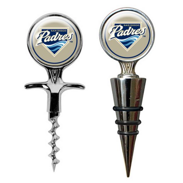 San Diego Padres Cork Screw and Wine Bottle Topper Set