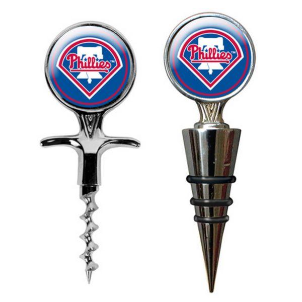 Philadelphia Phillies Cork Screw and Wine Bottle Topper Set
