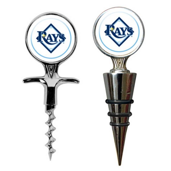 Tampa Bay Rays Cork Screw and Wine Bottle Topper Set