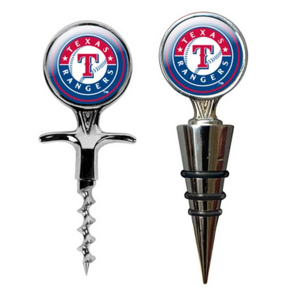 Texas Rangers Cork Screw and Wine Bottle Topper Set