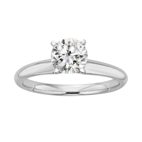 Round-Cut IGL Certified Colorless Diamond Solitaire Engagement Ring in 18k White Gold (1 ct. T.W.)