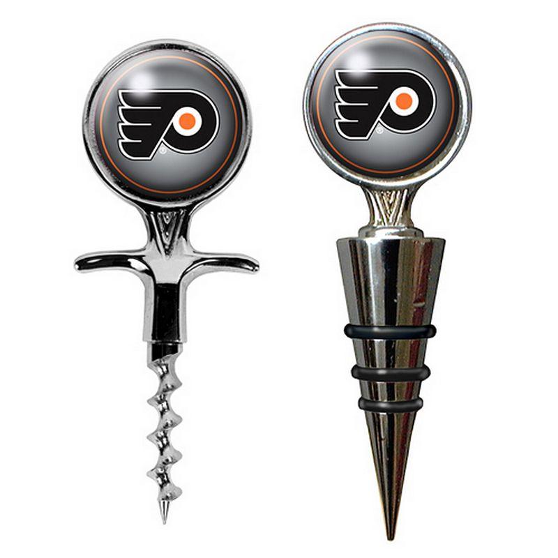 Philadelphia Flyers Cork Screw and Wine Bottle Topper Set