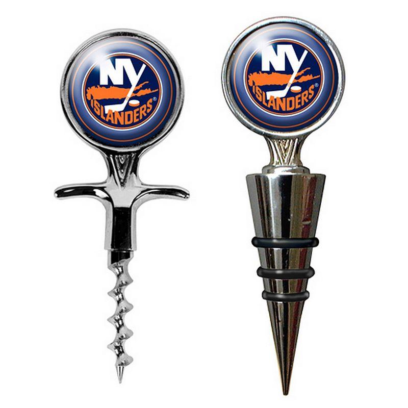 New York Islanders Cork Screw and Wine Bottle Topper Set