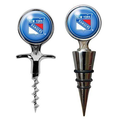 New York Rangers Cork Screw and Wine Bottle Topper Set