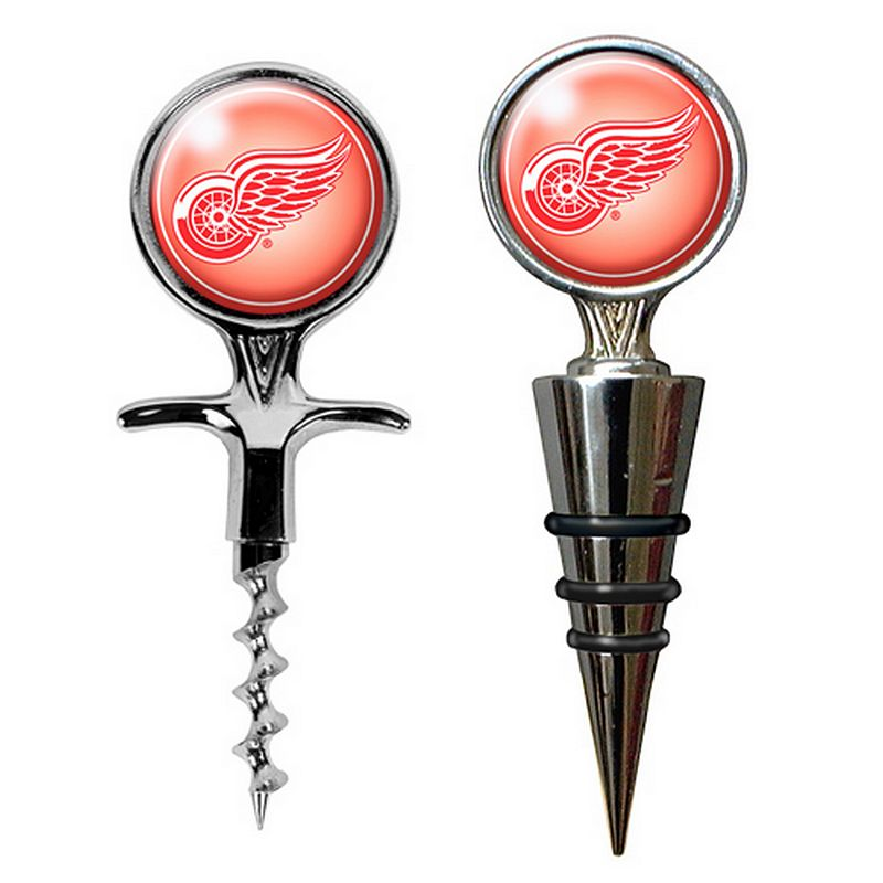 Detroit Red Wings Cork Screw and Wine Bottle Topper Set