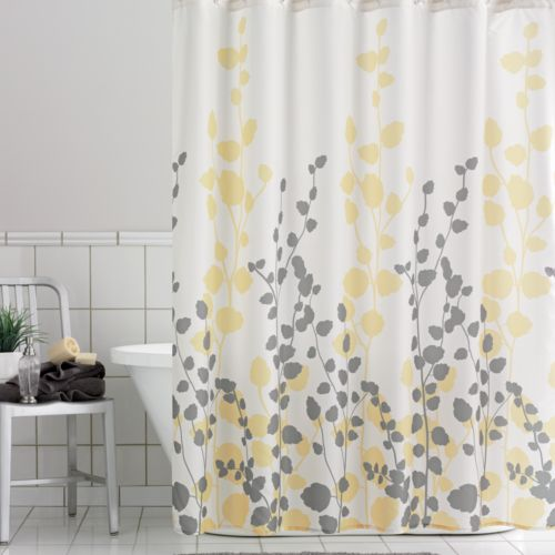 Home Classics Ivy Fabric Shower Curtain
