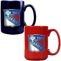 New York Rangers 2-pc. Ceramic Mug Set