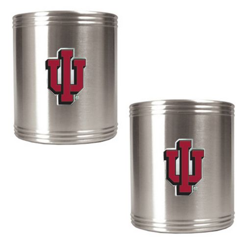 Indiana Hoosiers 2-pc. Stainless Steel Can Holder Set