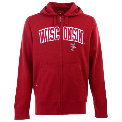 Men's Wisconsin Badgers Signature Zip Front Fleece Hoodie