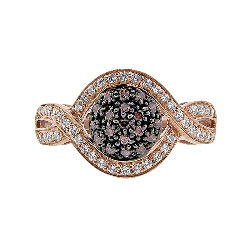 Rose Gold Tone Over Sterling Silver 1/2-ct. T.W. Diamond Ring