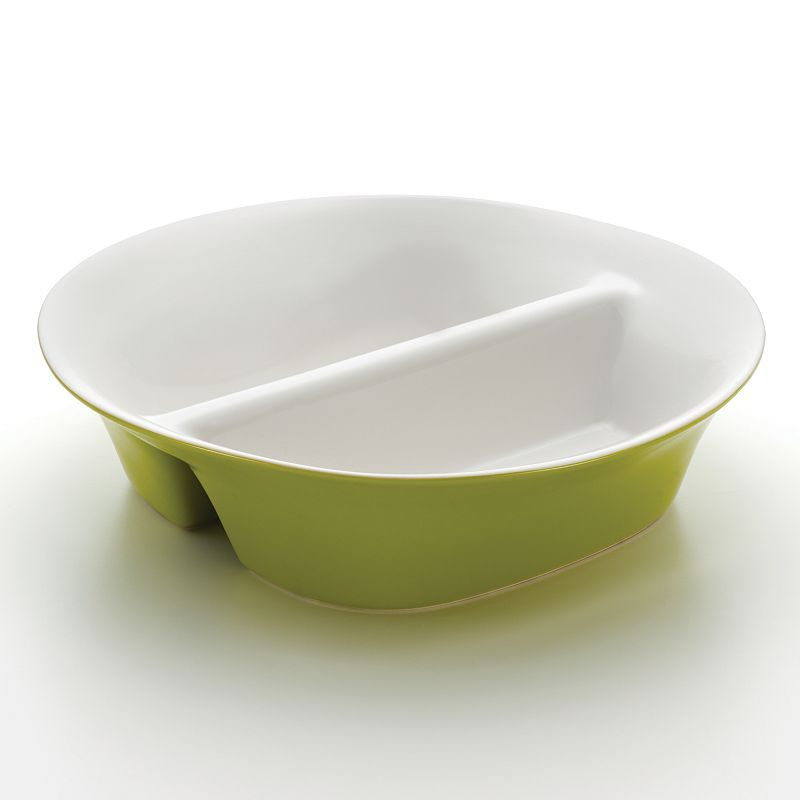 Rachael Ray Round and Square 12-in. Divided Dish