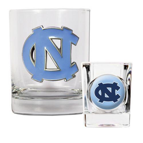North Carolina Tar Heels 2-pc. Rocks Glass and Shot Glass Set